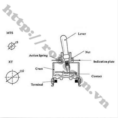 Công Gạt 3 Chân 3 Vịt Trí MTS-103 6A-125V