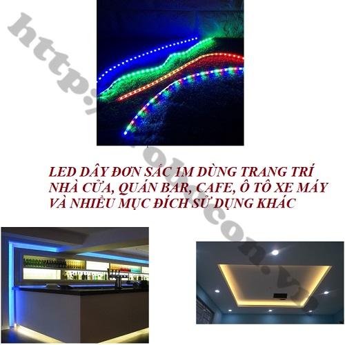 LED142 Led Dây Trang Trí Ô Tô, Xe Máy 12VDC Sáng Trắng