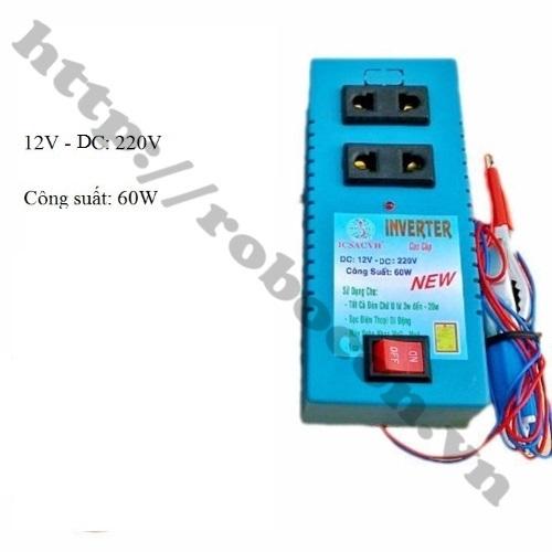 Bộ Chuyển Đổi Điện Inverter 12V Lên 220V 60W