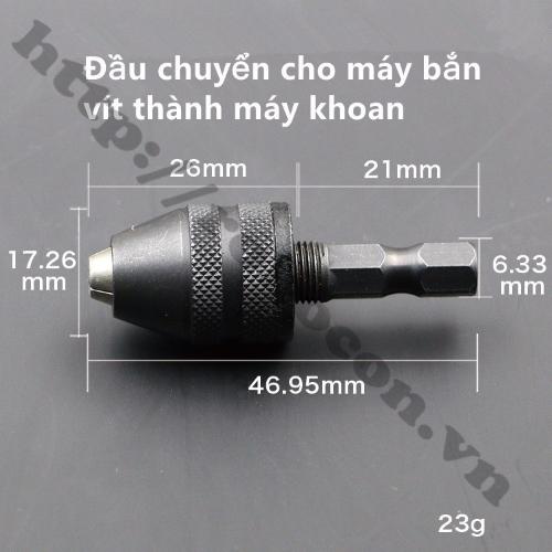 Đầu Kẹp Mũi Khoan 0.3-3.5mm  Chuôi Lục Giác