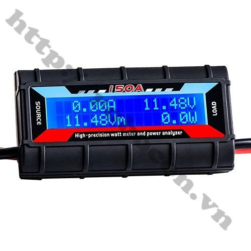 MDL307 Đồng hồ LCD Đo Điện Áp, Dòng Và Công Suất 4.8-60V 0-150A