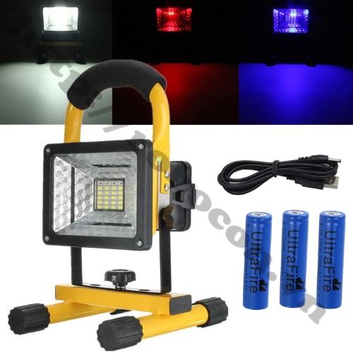 Đèn LED Tích Điện Để Bàn Siêu Sáng 30W Kèm 3 Pin
