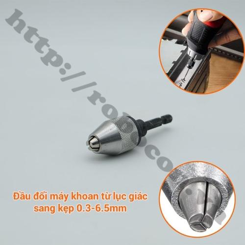 Đầu Kẹp Mũi Khoan 0.3-6.5mm  Chuôi Lục Giác