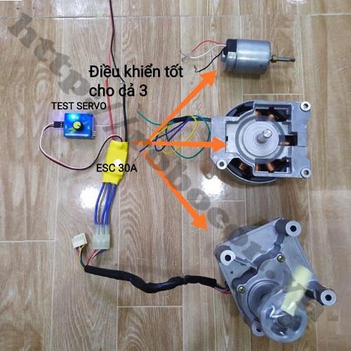 CBM134 Combo ESC 30A Kèm Test Servo Điều Tốc Cho Động Cơ Chế Quạt Brushless Không Chổi Than