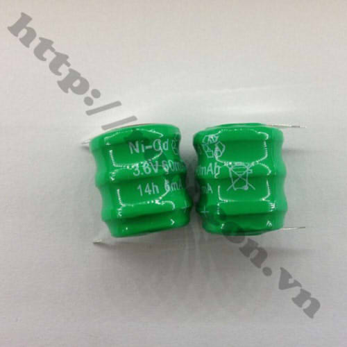 PPKP45 Pin Nickel Ni-Cd 3.6V 60mAh