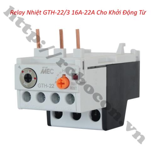 Relay Nhiệt GTH-22/3 Cho Khởi Động Từ 16A-22A LS
