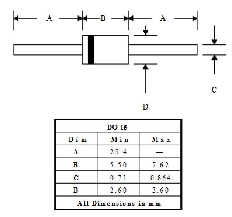 Sơ đồ kích thước Diode xung 2A FR207