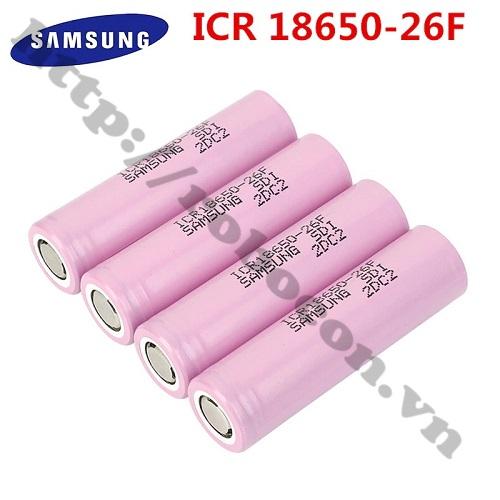 PPKP261 Pin Samsung ICR18650 26F 2600mAh Dòng Xả 10A Chính Hãng