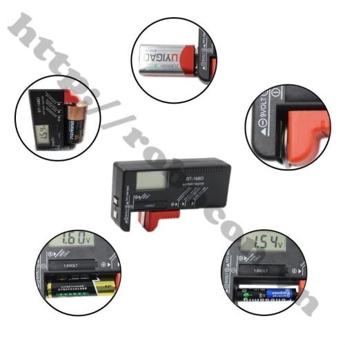 PPKP164 Máy Đo Dung Lượng Pin Kỹ Thuật Số BT-168D Hiển Thị LCD