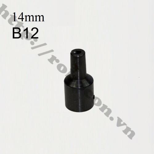 PKK534 Đầu Nối B12 Nối Trục 14mm Với Đầu Kẹp Mang Ranh 1.5-10mm
