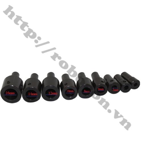 Các loại Đầu Nối B12 Nối Trục  Với Đầu Kẹp Mang Ranh 1.5-10mm