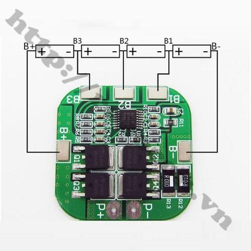PPKP57 Mạch Sạc Và Bảo Vệ Pin 14.8V 4S 20A