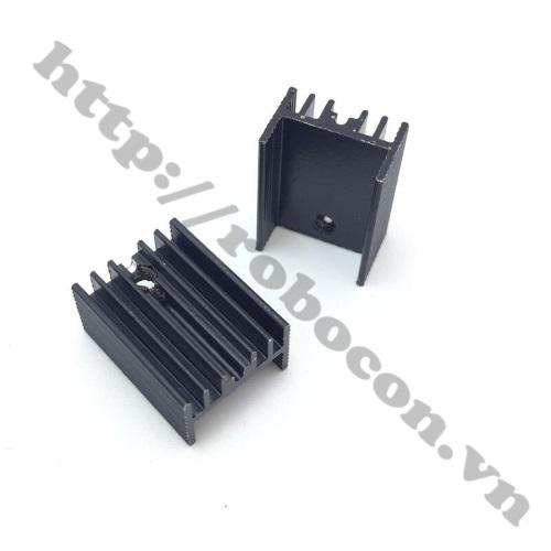 Tản nhiệt nhôm 25X15X10mm, tản nhiệt ic, tản nhiệt sò