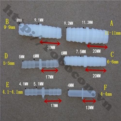 PKK510 Đầu Nối Dài Ống Silicone 10-10mm