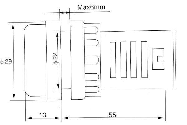 MDL198 Vôn kế AC Hiển Thị Điện Áp AD16 60V-500V