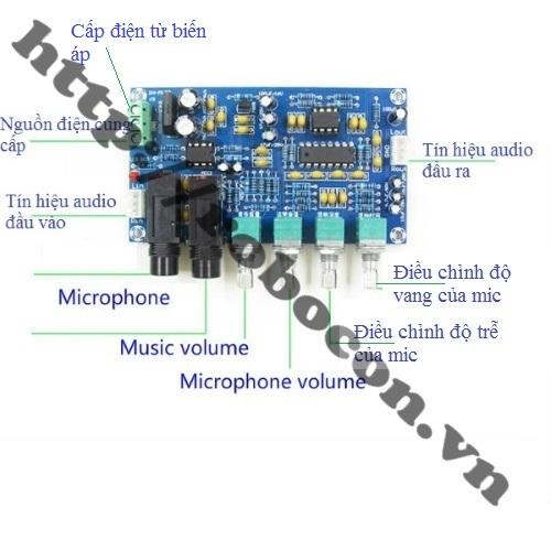 CBM41 Bộ Combo Echo Khuếch Đại Micro Karaoke XH-M173