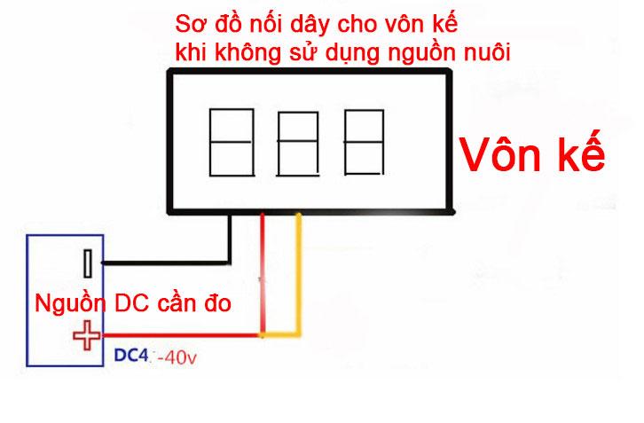 Hướng dẫn đấu Module Đồng Hồ Vol Kế  0V-100V 0,28 Inch