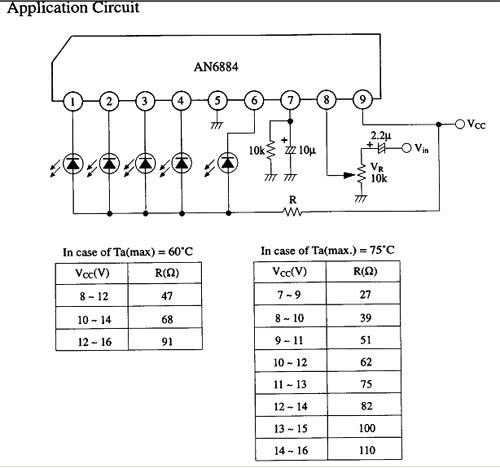 Sơ đồ kết nối đơn giản AN6884