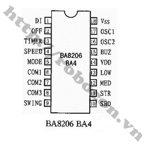 IC BA8206BA4 (IC Điều Khiển Quạt) DIP 18