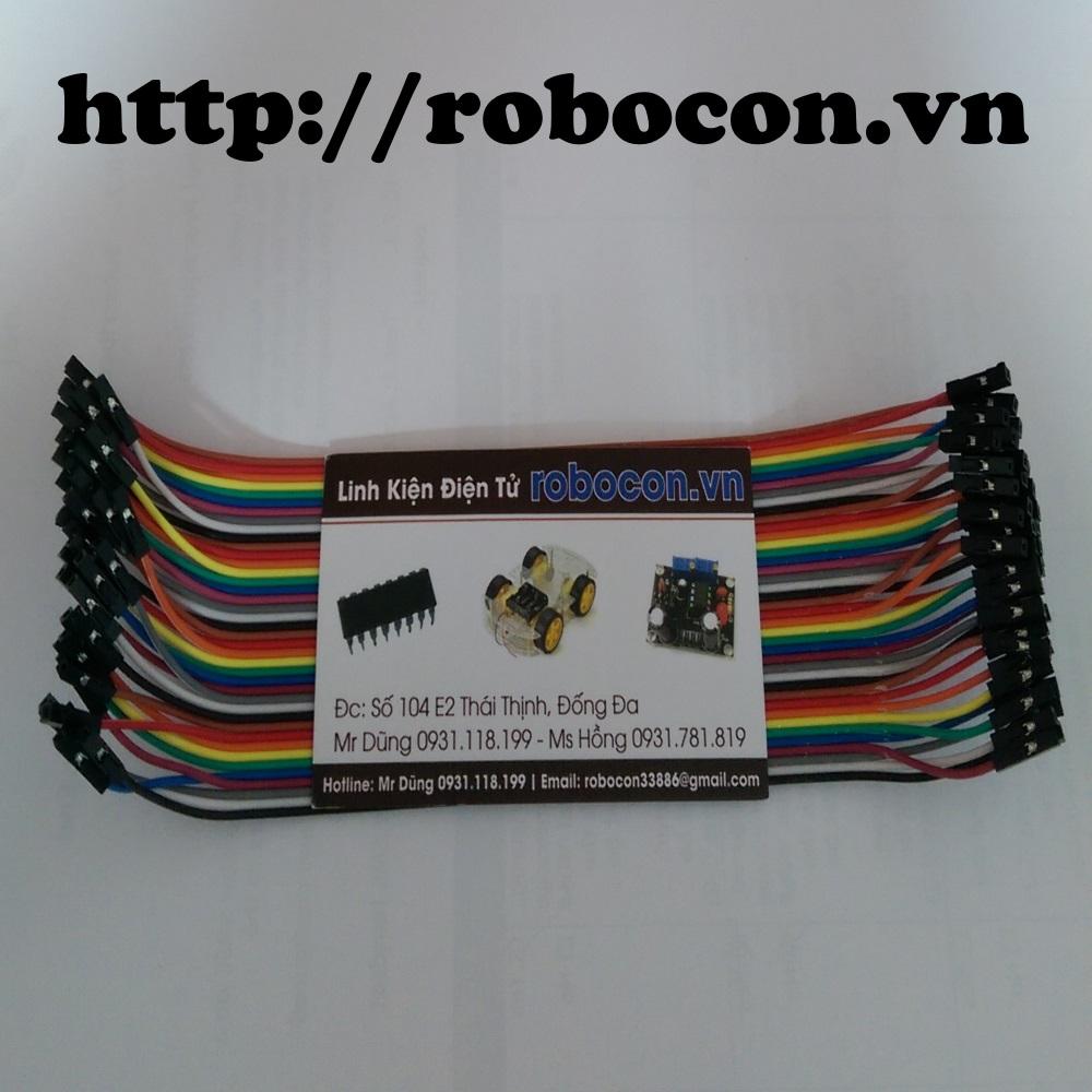 Tệp 40 sợi dây nối 20cm_10 màu loại Cái-Cái