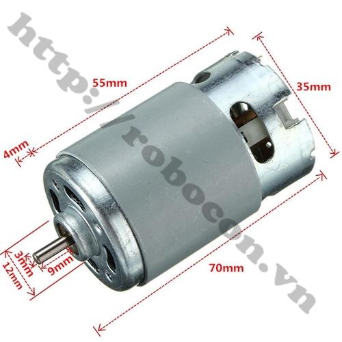 Động Cơ Máy Khoan Pin Siêu Khỏe R550-12V 9 Răng (Loại Xịn)