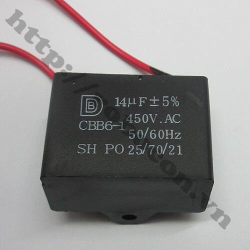 TD125 Tụ 2 Dây 450V 14uf