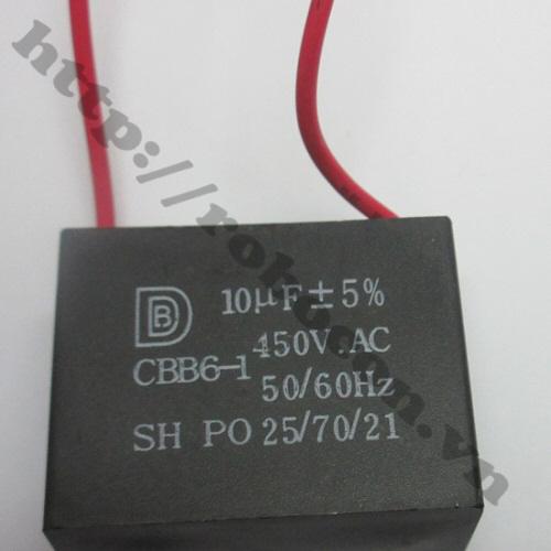 TD126 Tụ 2 Dây 450V 10uf