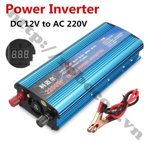 MDL353 Bộ Inverter Kích Điện 12VDC Lên 220VAC Có LED Hiển Thị 2200W
