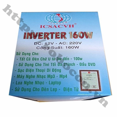 Bộ Chuyển Đổi Điện Inverter 12V Lên 220V 160W