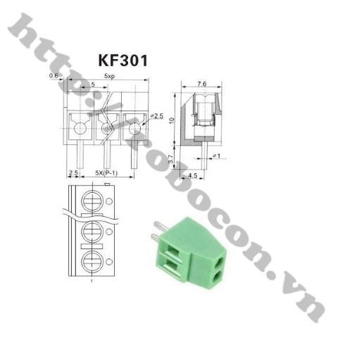 Domino 2- Nối Nguồn 2 Chân -Terminal 2 KF301-2P