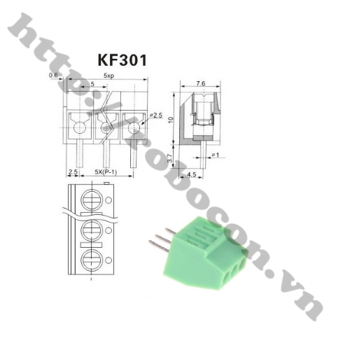 Domino 3- Nối Nguồn 3 Chân -Terminal 3 KF301-3P