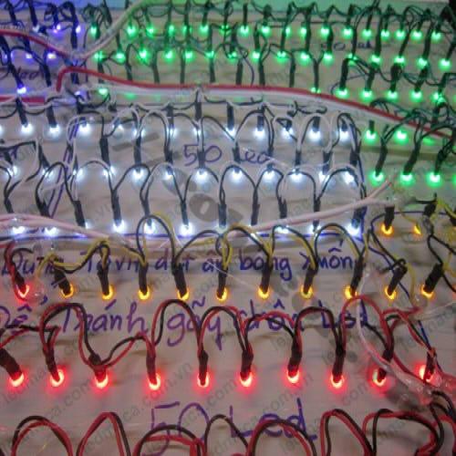 LED92 LED Liền Dây Phi 5 Màu Đỏ (100 Bóng) sử dụng lắp biển cuảng cáo
