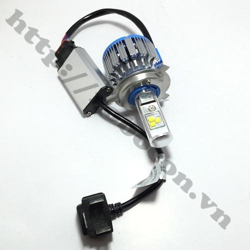 Đèn Pha Led Turbo Có Dirver H4 40W Cho Oto, Xe Máy