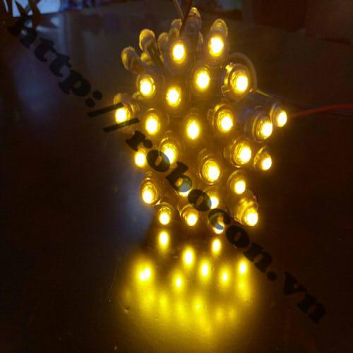 LED106 LED Đúc Phi 5mm Đế 8mm Màu Vàng