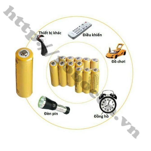 Pin Sạc Ni-CD AA 1.2V 700mAh sử dụng làm pin nuôi nguồn cho các thiết bị