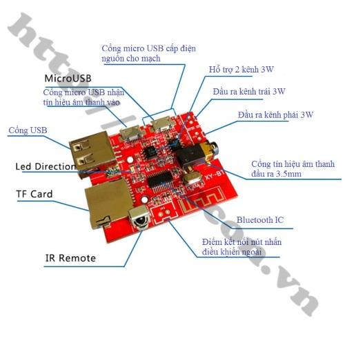 Mạch Giải Mã, Khuếch Đại Âm Thanh Bluetooth 4.1 Có Điều Khiển