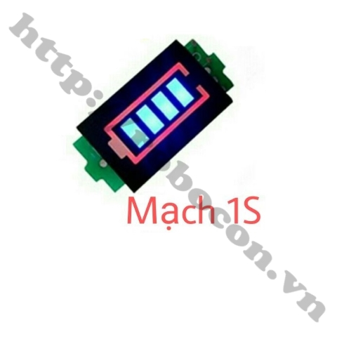 Mạch Báo Dung Lượng Pin 1S 3.7V-4.2V
