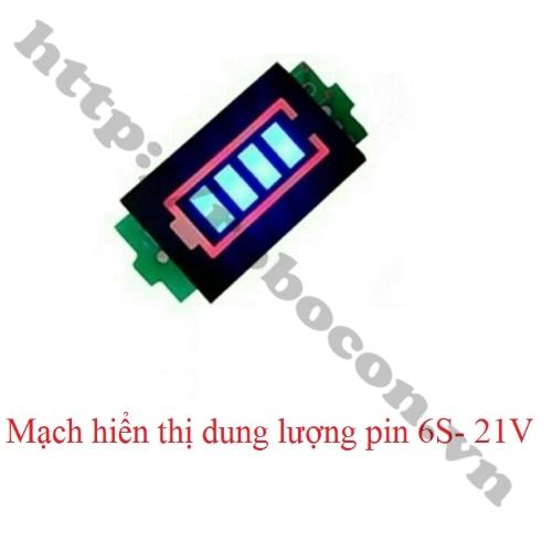 Mạch Báo Dung Lượng Pin 6S 21V