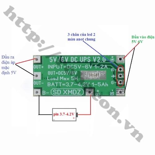 Mạch UPS Chuyển Nguồn Tự Động 5V 5W