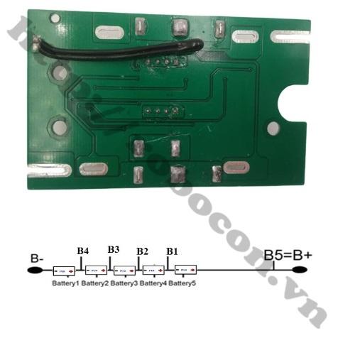Mạch Sạc Và Bảo Vệ Pin 18V 5S 15A Chế Pin Máy Khoan