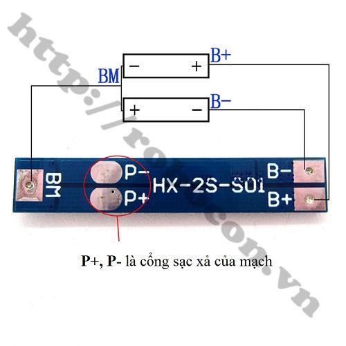 Mạch Sạc Và Bảo Vệ Pin 7.4V-2S-5A