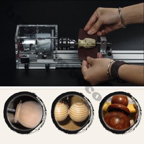 Sử dụng máy tiện mini 100W để tạo ra hạt vòng gỗ các loại