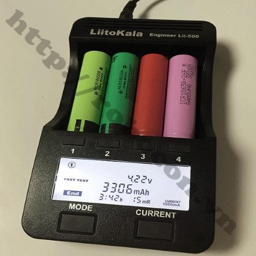 CBM57 Bộ Sạc 4 Pin Đa Năng Liitokala LII-500 Sạc Pin 26650-18650-14500-16340