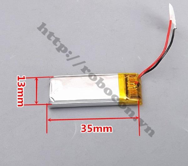 PPKP162 Pin Lithium 3.7V 501335 -160MAH Pin tai nghe Bluetooth, pin camera
