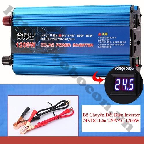 MDL355 Bộ Chuyển Đổi Điện Inverter 24VDC Lên 220VAC 1200W
