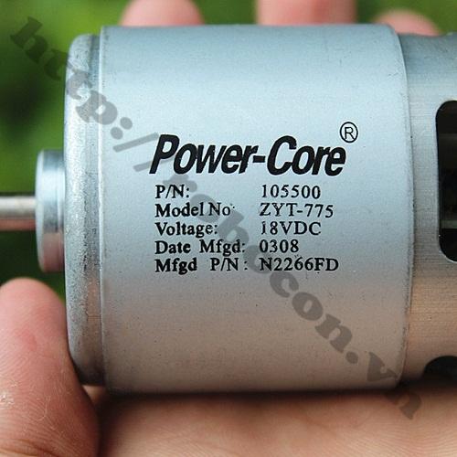 ĐỘNG CƠ POWER CORE 775–100W TRỤC D 12-24VDC LOẠI XỊN