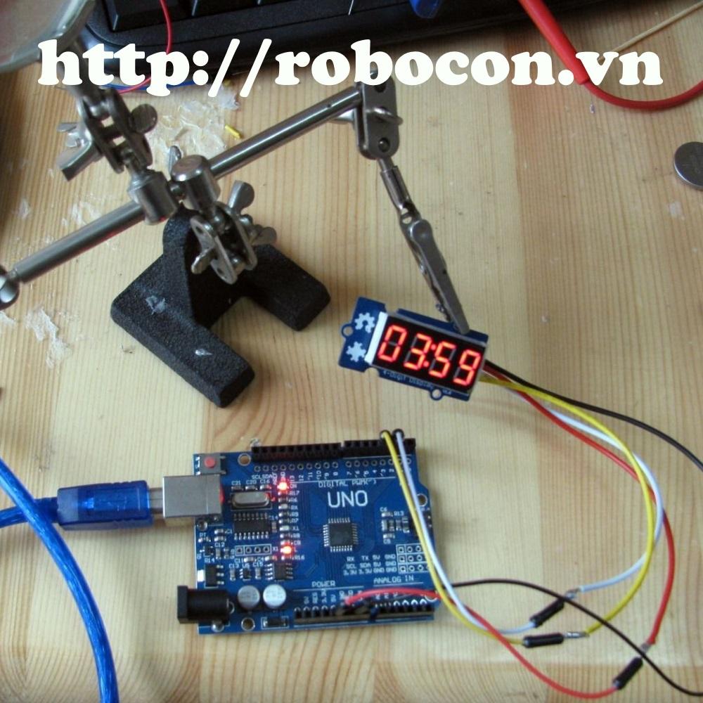 Module 4 Led 7 đoạn 0.36 inch kết nối với mạch Arduino