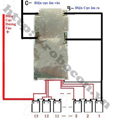 PPKP37 Mạch Sạc Và Bảo Vệ Pin 48V 13S 45A