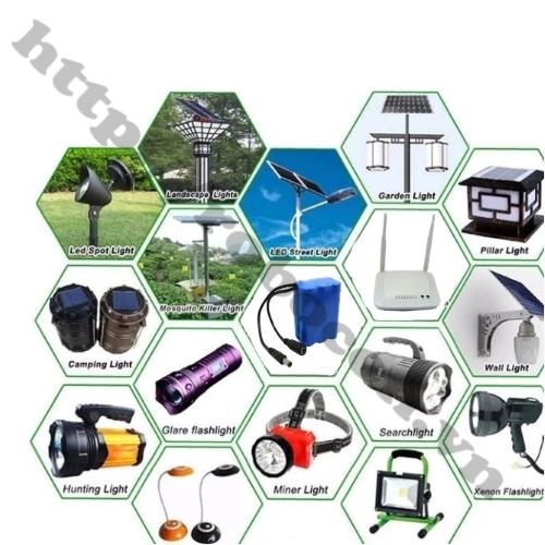 Ứng dụng Khối Pin 3S Lithium 12V 4800mAh Pin 3S cho các sản phẩm camera, modem wifi,...