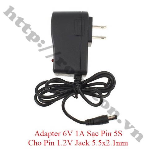 NG112 Adapter 6V 1A Sạc Pin 5S Cho Pin 1.2V Jack 5.5x2.1mm